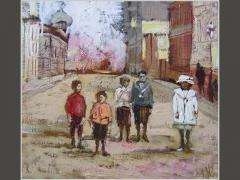 Дети. Гагаринский переулок. Москва сто лет назад.