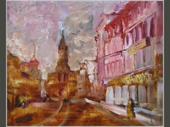 Вид на Сухаревскую башнюю Москва сто лет назад.